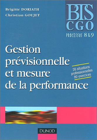 Gestion prévisionnelle et mesure de la performance - Processus 8 et 9 : Manuel