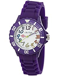 Cactus CAC-62-M09 - Reloj de pulsera niños, Plástico, color Morado