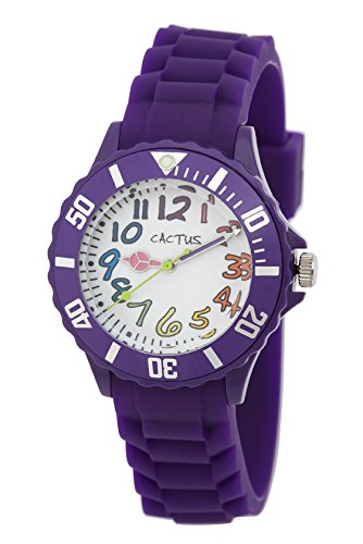 Cactus Kinder-Armbanduhr Analog Plastik Violett CAC-62-M09