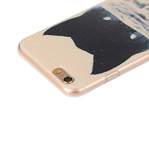 "Transparent iPhone 6S Hülle, Flexibel TPU Dünn Slim Licht Hübsch Malerei Bild - Tier Katze - Cover Case für Apple iPhone 6 6S 4.7"" Color-3"