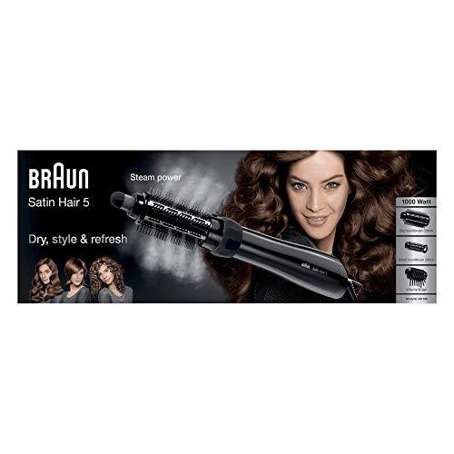 Braun Satin Hair 5 Airstyler Warmluft-Lockenbürste AS 530, mit 3 Stylingaufsätzen, 1000 Watt