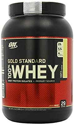 Gold Standard ON Optimum Nutrition 100% Whey Best Protein (French Vanilla Crème, 908 g) from Optimum Nutrition