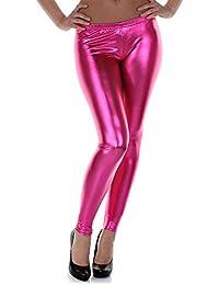Distressed legging brillant métallisé wet look taille s-m 34, 36 -  - Taille unique