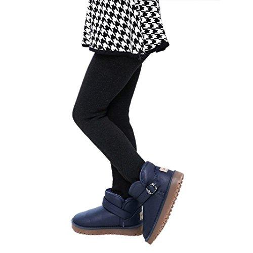 Tonsee Filles d'hiver Pantalons enfants épais Jambières de taille élastique chaud (S:2-5 ans, Noir)