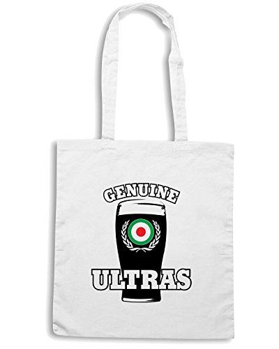 T-Shirtshock - Borsa Shopping T0142 GENUINE ULTRAS calcio ultras Bianco