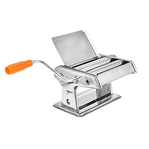 Pasta Machine Fresh Wellness Homemade Fettuccine Spaghetti Cutter Noodle Making Machine Lasagne Dough Roller Press Stainless Steel 0.5-3 mm
