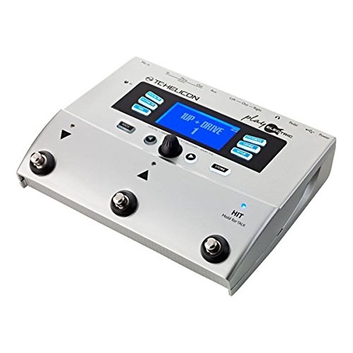 TC Helicon PLAY ELECTRIC - Pedalera multiefectos de suelo para guitarra, pantalla LCD