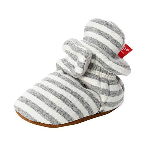 Scarpe Primi Passi Bambino Morbida Scarpe Neonato in Tessuto di Cotone Stripe