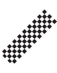Grip pour trottinette Motif carreaux Noir/blanc