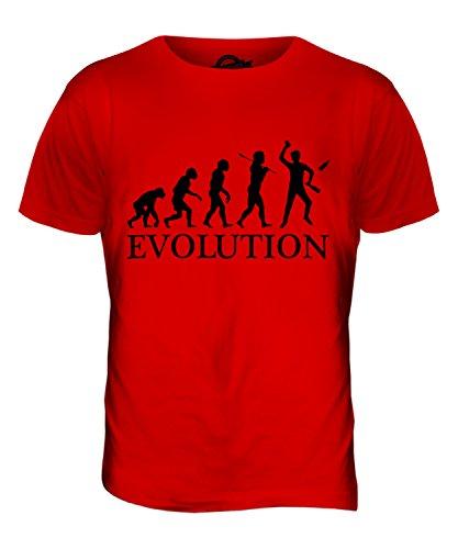 CandyMix Barkeeper Evolution Des Menschen Herren T Shirt Rot