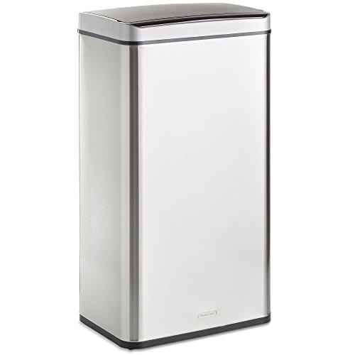 VonHaus 70L Abfalleimer mit Sensor - Automatisches Öffnen/Schließen - Abfallbehälter aus Edelstahl für den Innenbereich