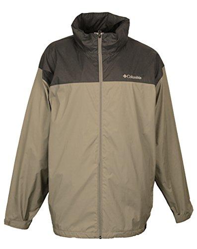 Columbia Men's Sportswear Raincreek Falls Rain Jacket (SMALL, Khaki/Charcoal) - Columbia Khaki