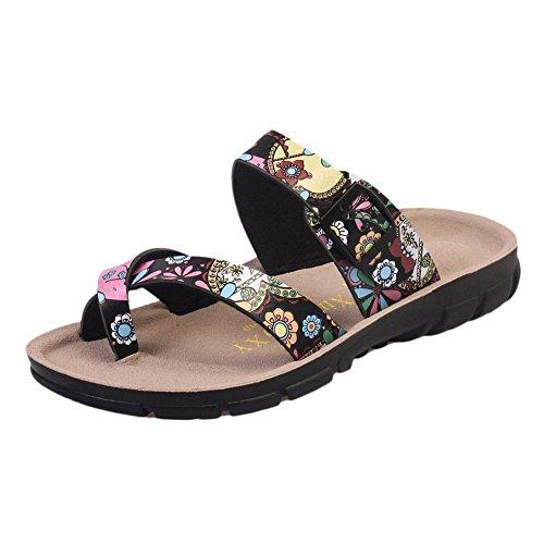 Sandales Mixte Adulte - Femme Tongs Chaussures - Sandales Homme Chaussures Noir 1