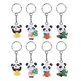 STOBOK Simpatici Panda Portachiavi Regali creativi per bomboniere 8 Pezzi