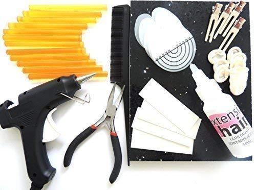 Pistolet À Colle Colle Pour Extensions De Cheveux Avec Bâtons Outils Kit Pour Fusion Remy Application et enlèvement