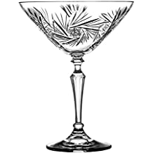 Crystaljulia 2325 Martiniglas, Kristall, 175 ml, 12.5 x 12.5 x 16 cm, 6 Einheiten