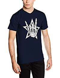 Touchlines Death Metal Headbänger, T-Shirt Homme