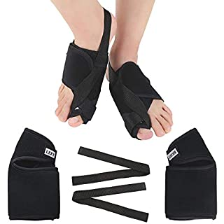 ETSAMOR Bunion Corrector One Pair of Toe Straightener Brace for Crooked Toes Alignment & Big Toe and Night Time Bunion Correction