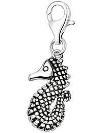 SilberDream Charm Seepferd Zirkonia 925 Silber Armband Anhänger FC682