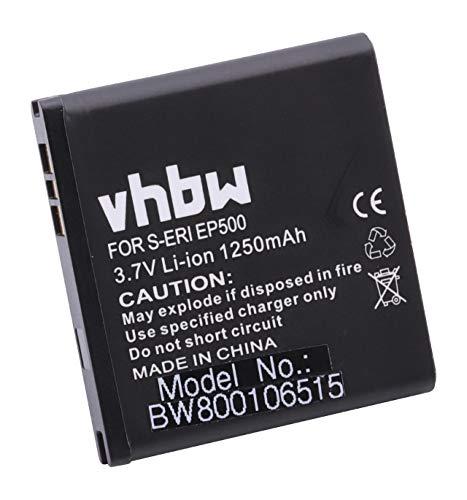 vhbw Batterie 1250mAh téléphone Portable Smartphone Sony-Ericsson E15 E16 Kanna Kurara SK17 ST15 ST17 U5 Vivaz U8 Xperia Mini Xperia X8 comme EP500
