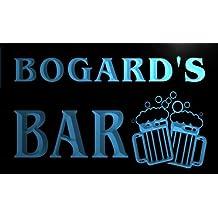 w008255-b BOGARD'S Nom Accueil Bar Pub Beer Mugs Cheers Neon Sign Biere Enseigne Lumineuse