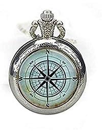 1dfdf5b30ef1 Náutico brújula de bolsillo reloj collar brújula Rose Mariner s reloj  joyería náutico ...