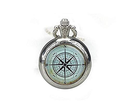 Bussola nautica orologio da tasca collana rosa dei venti orologio Mariner Jewelry nautica Ship Ocean Art ciondolo
