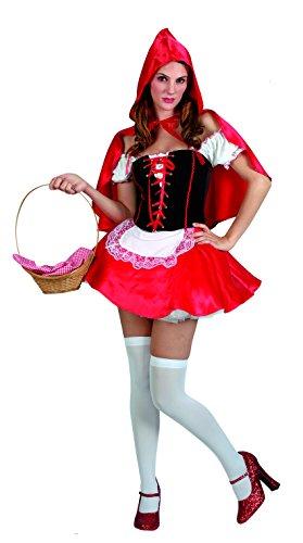 Ciao Fiori Paolo 25891.S - Cappuccetto Sexy Costume Donna Adulto, Taglia S, Rosso