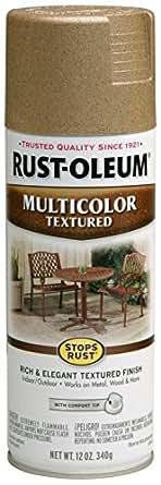 Rust-Oleum 239120 MultiColor Textured Spray, Radiant Brass, 340g