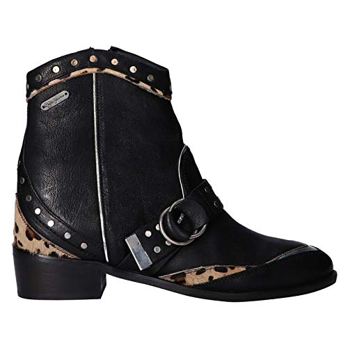 Pepe Jeans London Chiswick Rock, Botines para Mujer, Negro Black 999, 40 EU