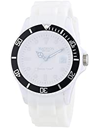 Madison New York analog Snow Festival White dial Unisex watch - U4612A1