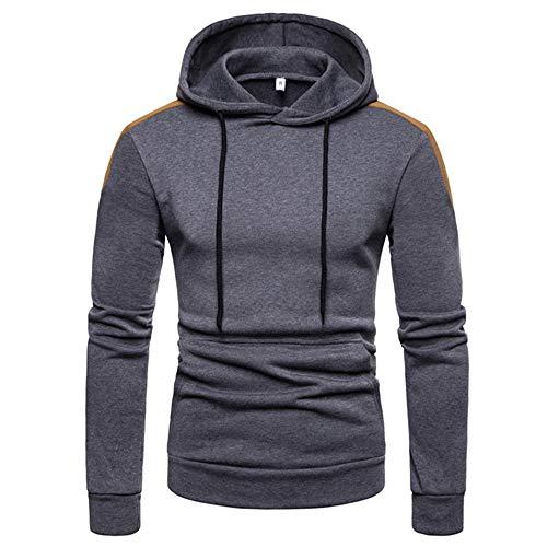 Herren Hoodie,TWBB Freizeit Pullover Kapuzenpullover Warme Farbe Nähen Schlank Winter Lange Ärmel Mantel Outwear Sweatjacke Hemd