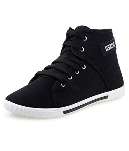 Chevit Men's Black Casual Sports Sneaker Shoes 303-10