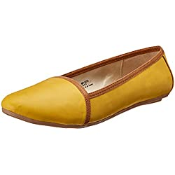 Bata Women's Olenna Yellow Ballet Flats - 5 UK/India (38 EU)(5518323)