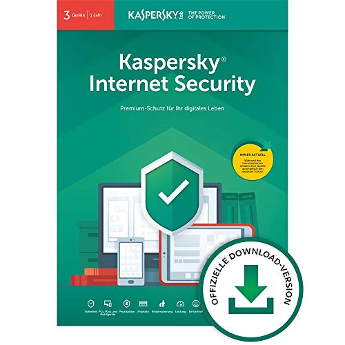 Kaspersky Internet Security 2020 Standard | 3 Geräte | 1 Jahr | Windows/Mac/Android | Aktivierungscode per Email
