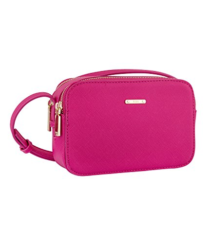 TOSH Tasche - Damen Handtasche, Umhängetasche, Cross-Body Bag, Boxy, pink, Lederoptik (734-082)