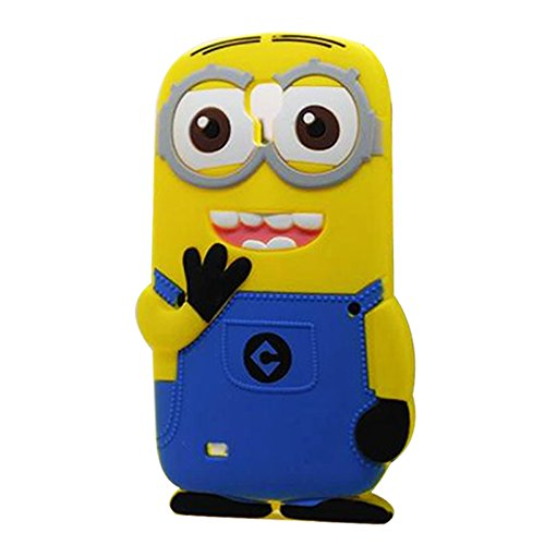 Double Eye Cute Despicable Me Minion Silicone Back Cover For Samsung Galaxy Mega 6.3 I 9200  available at amazon for Rs.499