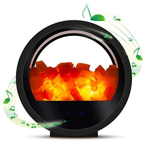 Bozily Himalaya Salzlampe, Nachttischlampe mit Bluetooth Lautsprecher, Berühren Sie Dimmer, natürliches Hymalain Pink Rock Lampen für Yoga, Therapie, Dekoration, Geschenk
