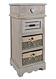 commode armoire haute vintage shabby tages pour le couloir look gris cuisine maison. Black Bedroom Furniture Sets. Home Design Ideas