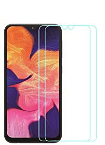 WOW Imagine [ Pack of 2 ] Samsung Galaxy A10 Premium Screen Protector Tempered Glass with | Self Adhering Technology | Anti Scratch Compatible Case Cover Friendly Screen Guard with Easy Installation Kit [Except Edges]