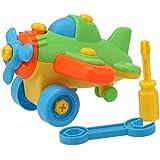 Helicóptero Avión Plástico Juguetes de Infantil Bebé Niños Inteligencia Desmontables con Destornillador y Llave