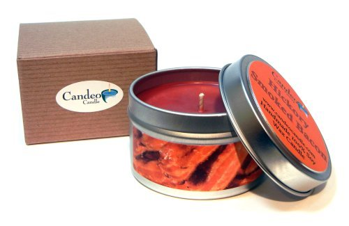 Hickory Smoked Bacon 4oz, Super Scented Soy Candle Tin