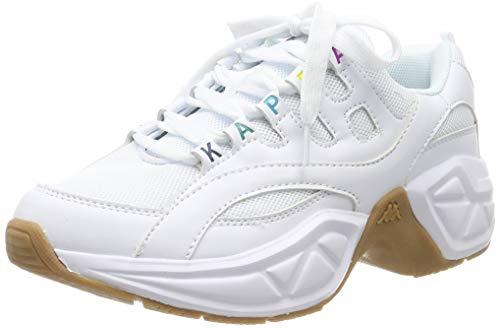 Kappa Overton, Zapatillas Mujer, Blanco White/Multi