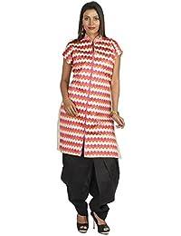 Ethnic Bliss Lifestyles Authentic Phulkari Ethnic Beautiful Pure Jute Semi Stitched Kurti