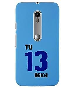 KolorEdge Back Cover For Motorola Moto X Style - Sky Blue (5861-Ke15071MotoXStyleSBlue3D)