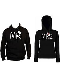 TRVPPY Hooded Sweat Suéter Sudadera con capucha Modelo MR & MRS, para hombre & mujer, en muchos colores diferentes
