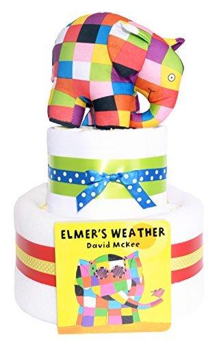 Elmer el elefante 2Tier–tarta de pañales para bebé regalo Hamper–rápido y entrega...