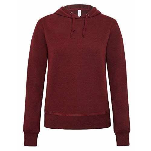 B&C Denim Damen Modern Sweatshirt Gr. Medium, Dark Heather Red