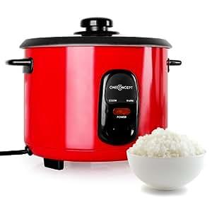 oneConcept Osaka 1,5 Cuiseur à riz 500W 1,5L Réchaud -rouge