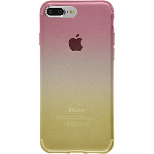 PhoneNatic Case für Apple iPhone 8 Plus Hülle Silikon Design:05 Ombrè Cover iPhone 8 Plus Tasche + 2 Schutzfolien Design:01